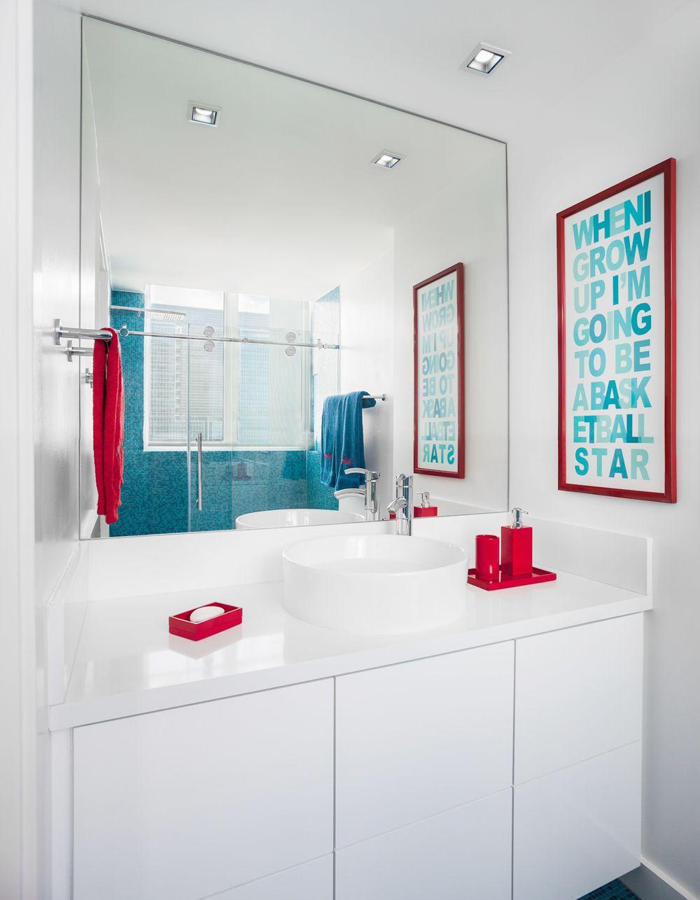 Boys Bathroom, funny and chic | Bathroom red, Neutral ...