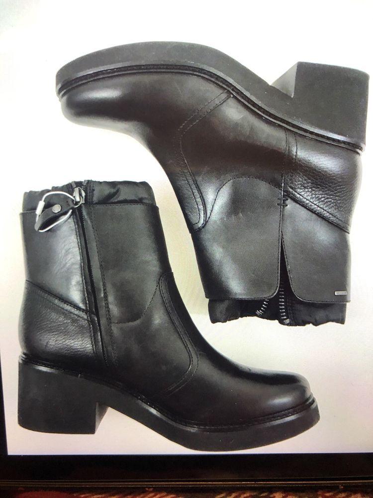 Profesor de escuela orificio de soplado anfitrión  GEOX Respira Women D64EA Size 7 US   Boots, Black ankle boots, Geox