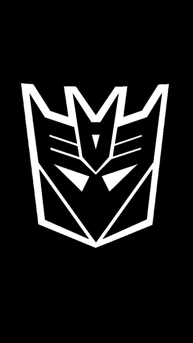 """NEW Transformers DECEPTICON badges emblems GLOSS BLACK 2 3/"""" and 5/"""""""