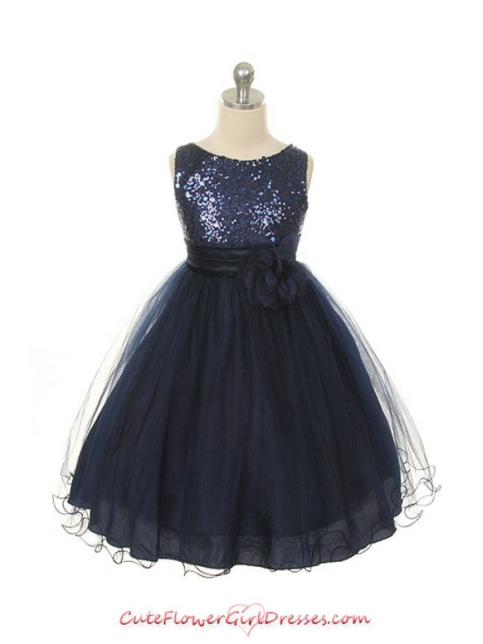 024e7ce2f722f Midnight Blue Flower Girl Dress.... Omg this comes in champagne ...