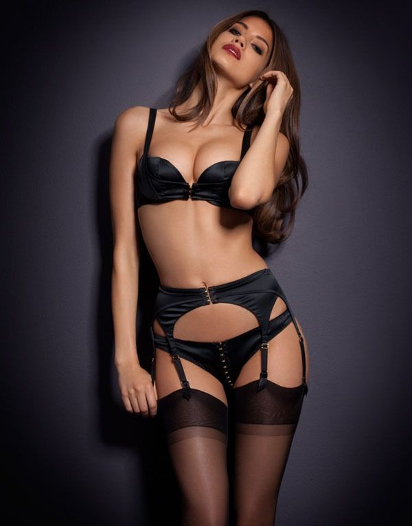 0cf532ed772 Latvia lingerie fashion sexy black stockings