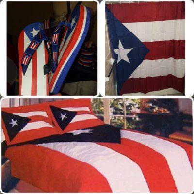 Combo 2 Pr Flag Flip Flops Pr Comforter Pr Shower Curtain Pr
