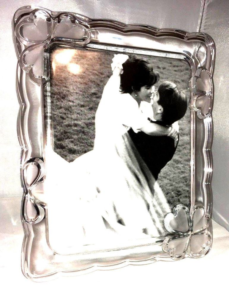 Mikasa Crystal 8x10 Wedding Picture Frame 'Love Whispers