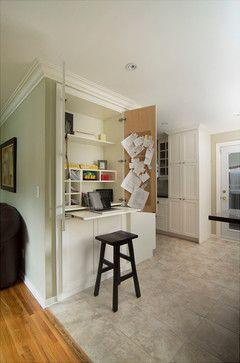 Hidden Desk Design Ideas Pictures Remodel And Decor Kitchen Office Nook Hidden Desk Home