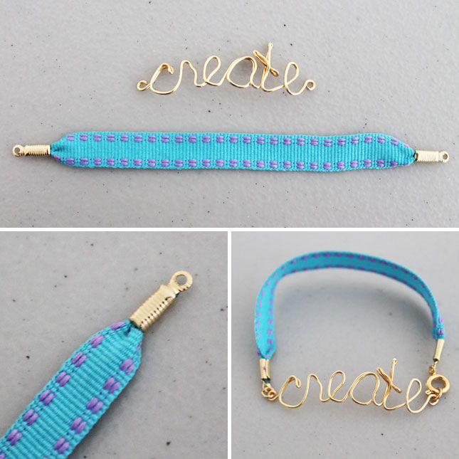 Make, Hack, Create, Love: Wire Word Friendship Bracelets | Brit + Co ...
