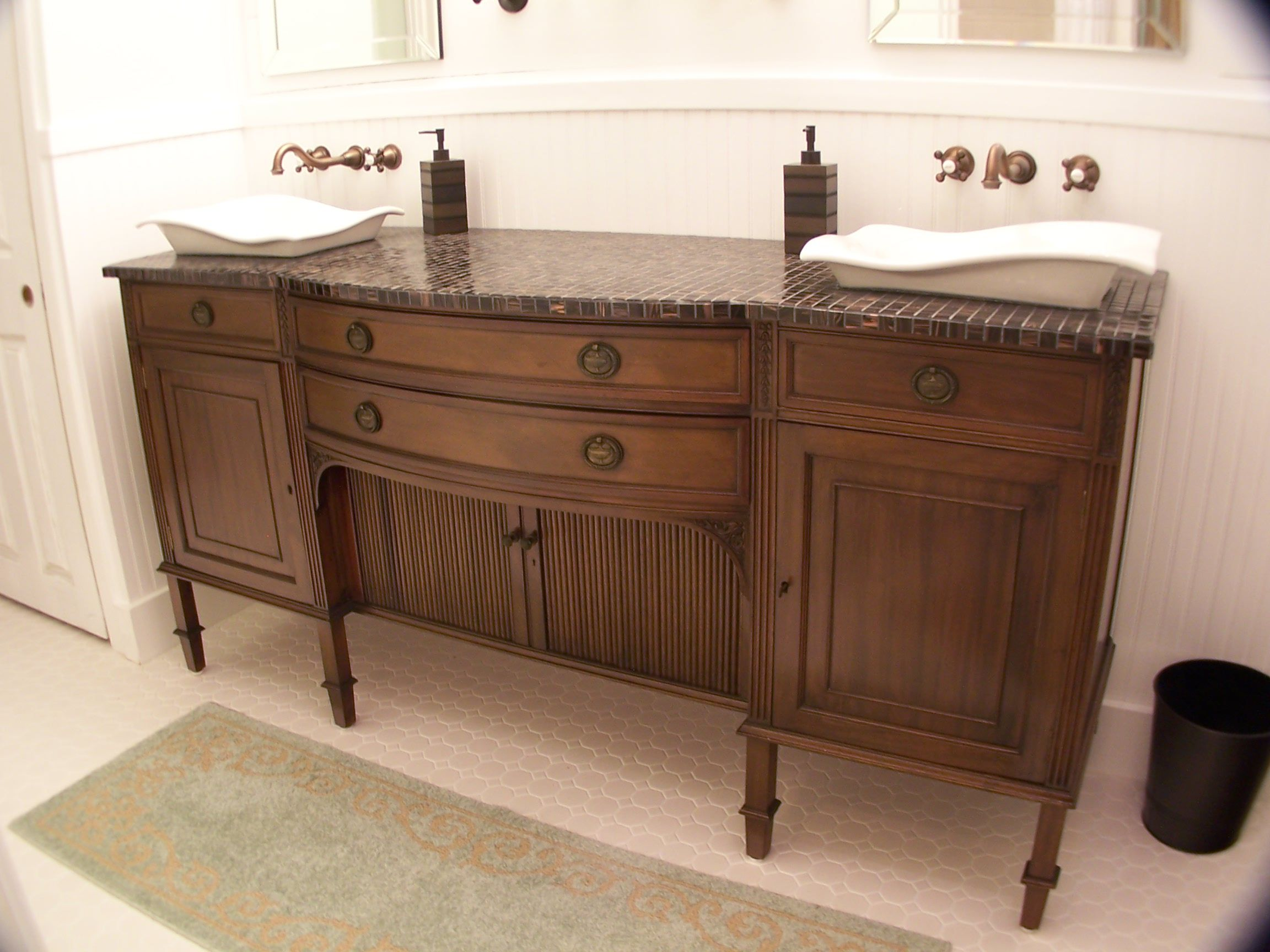 Buffet Turned Vanity Furniture Make Overs Pinterest Buffet Vanities And Bathroom Vanities