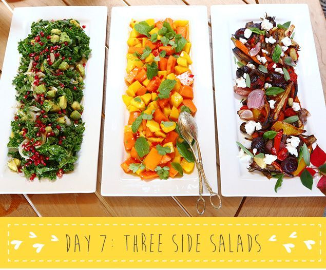 12 Days of MNB XMAS - Day 7 Three Side Salads   Kale, Healthy ...