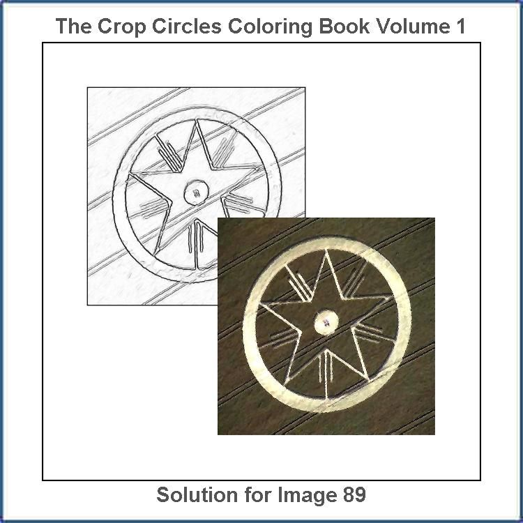 Solution For The Bonus Drawing Number 89 From The The Crop Circles Coloring Book Coloring Books Coloring Book Therapy Crop Circles