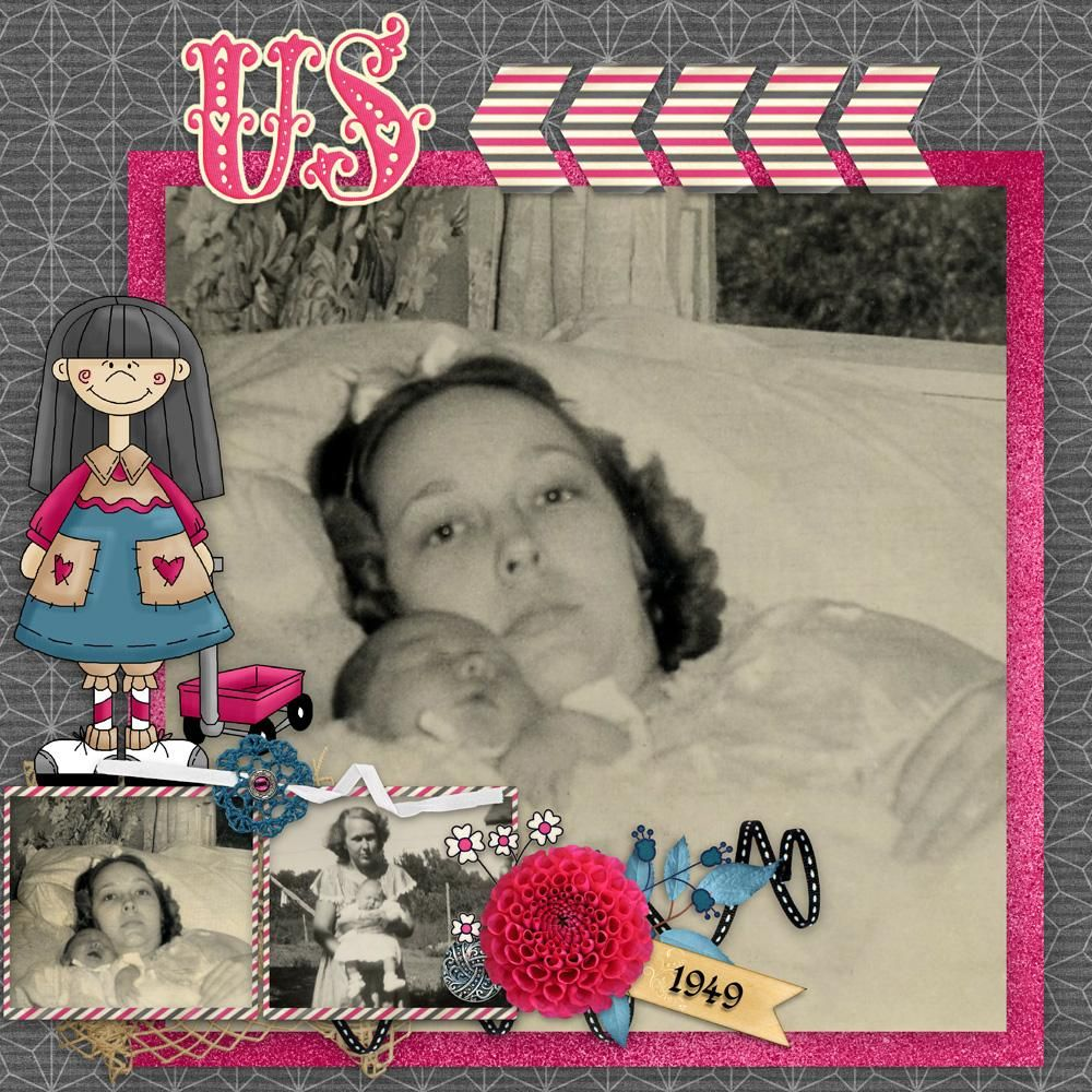 """Digital Scrapbooking Kit  My Girl - Over the Fence Designs  """"Such a fun kit!"""""""