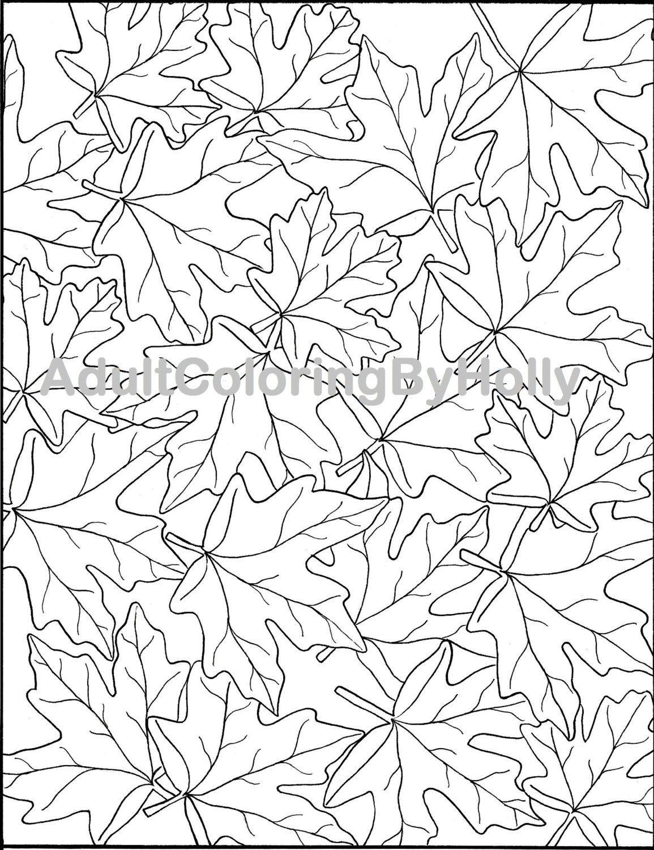 Coloring Page Printable Digital Download September Calendar Fall ...