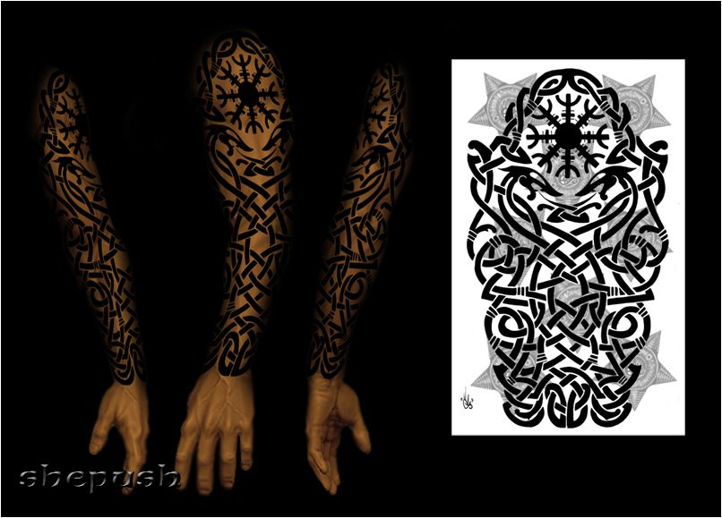celtic sleeve by shepush on deviantart tats pinterest symbole und malen. Black Bedroom Furniture Sets. Home Design Ideas