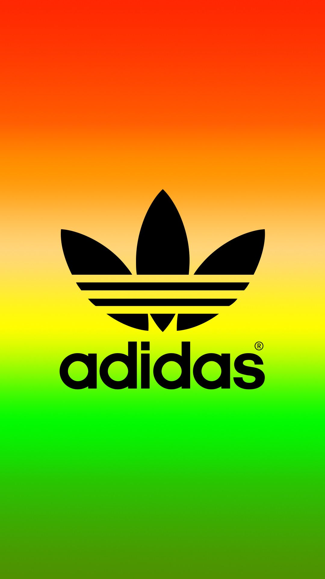 adidas Logo Rasta Color iPhone Wallpaper