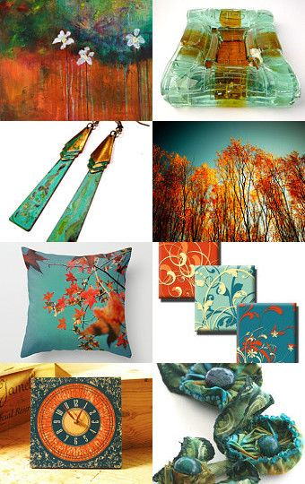 Teal and orange pinned by beverly ash gilbert pinned with - Orange and teal decor ...