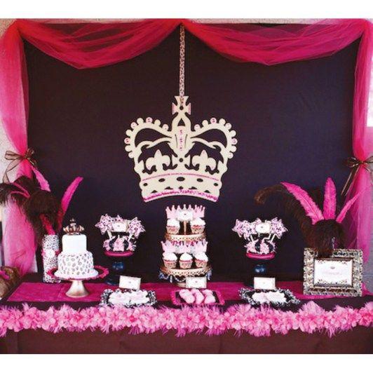 Princess Party Desser Bar and Decor Ideas