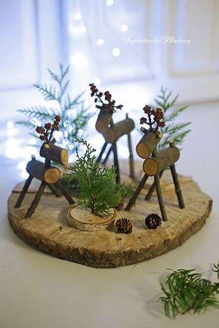 17 Decorations De Noel Diy Avec Des Rondins De Bois Decoration