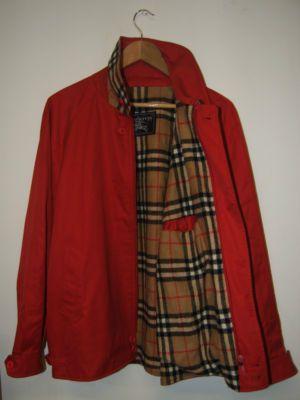 96d3daf2def09 Details about Vintage Burberrys 100% Wool GOLF jacket RARE RED XL ...