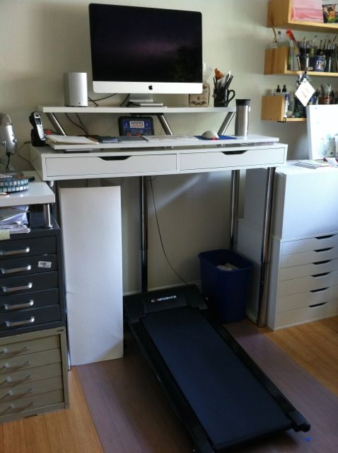 Beautiful Ikea Hack Standing Desk / Ikea Hack Treadmill Desk Made From An Ikea ALEX  Desk,