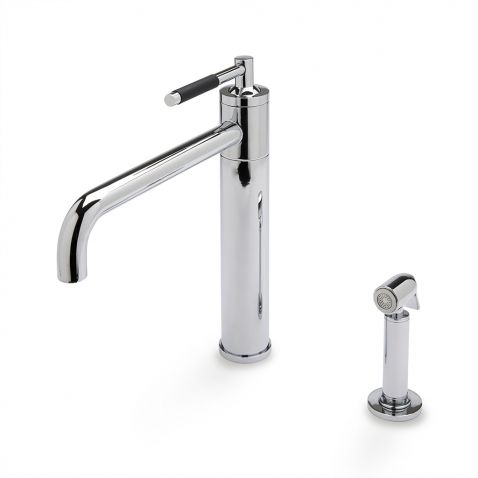 Universal Modern One Hole High Profile Kitchen Faucet Metal Lever