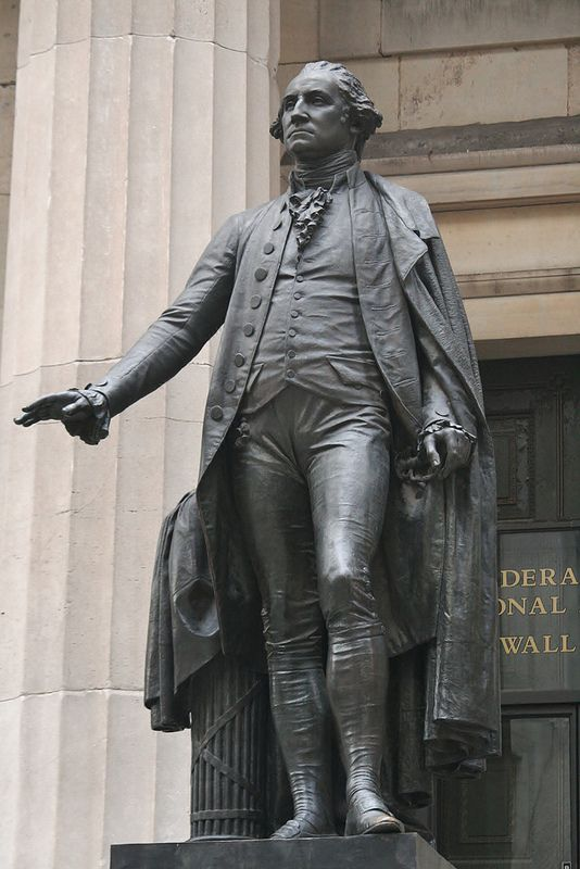 Statue Of George Washington In Front Of The Federal Hall National Memorial On Wall Street New York City America S F Wall Street News George Washington Statue