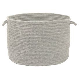 Perfect for your master suite or guest bathroom, this essential basket features a stylish braided design and 2 easy-grip handles.  Product: BasketConstruction Material: Polypropylene and woolColor: GrayFeatures:  Two easy-to-grip handlesBraided designMade in the USA  Cleaning and Care: Spot clean with any common household cleaner