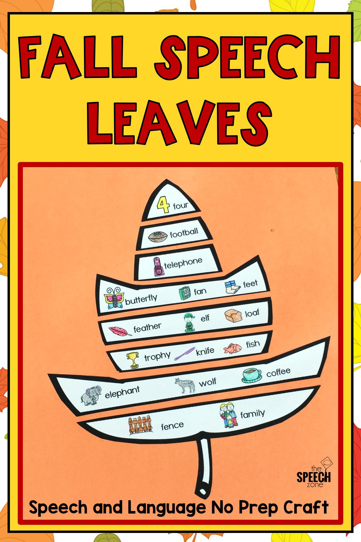 Fall Leaves Speech Craft