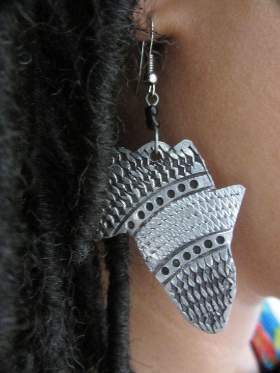 Africa Map Earrings Made in Kenya Africa Kenya and Earrings