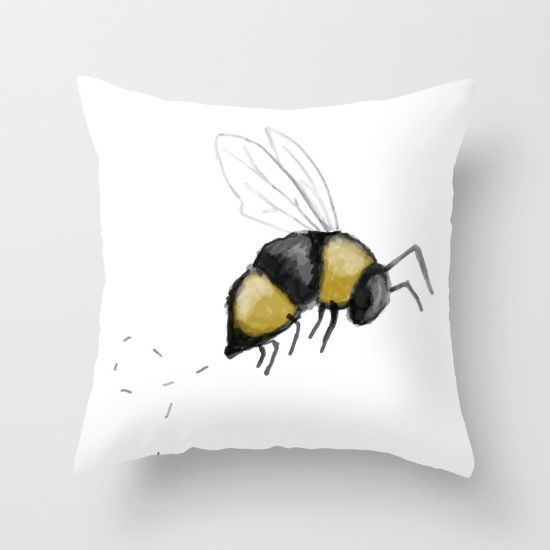 Honey Bee | Bumble Bee | Home Decor Pillow by Averie Lane Boutique on Society6.com