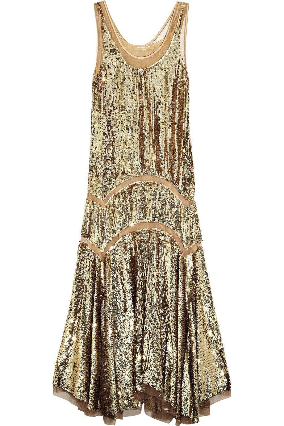Michael kors sequined midi dress netaportercom my style