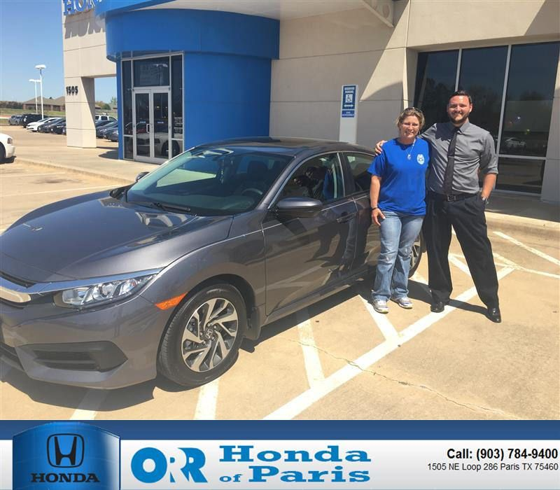 Congratulations Susan On Your Sedan From Jordon Thielman At Orr Honda Of  Paris!