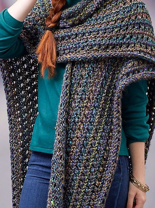 Free Knitting Pattern For Woodland Ruana Wrap Knitting Pinterest