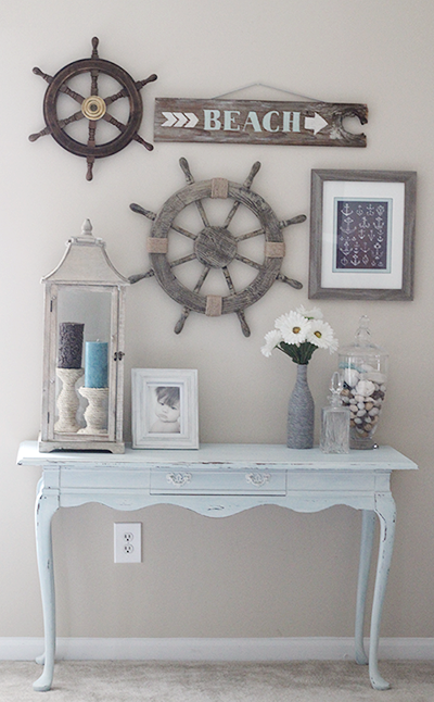 I like the rustic look but this is cute for like a beach house ...