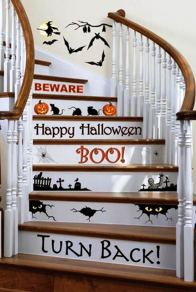51 spooky diy indoor halloween decoration ideas for 2018 halloween craftsdecor pinterest staircase decoration staircases and decoration
