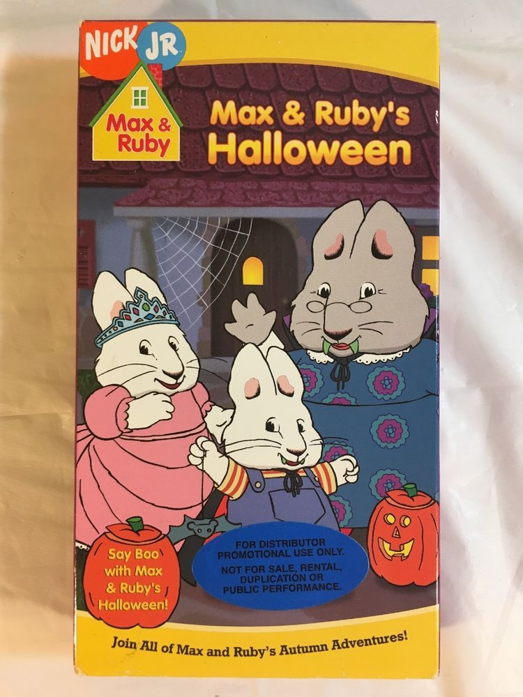 Max And Rubys Halloween Vhs Nick Jr Promotional Tape 2005