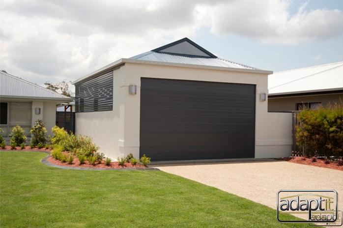 Gable Carport With Roller Door Google Search Garage Door Colors Carport Garage Outdoor Yard Ideas