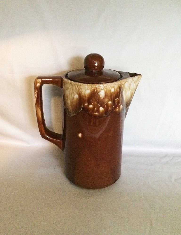 Vintage Brown Drip Glaze Teapot Coffee Pot Japan Drip Glaze Etsy In 2020 Tea Pots Glazes For Pottery Coffee Pot