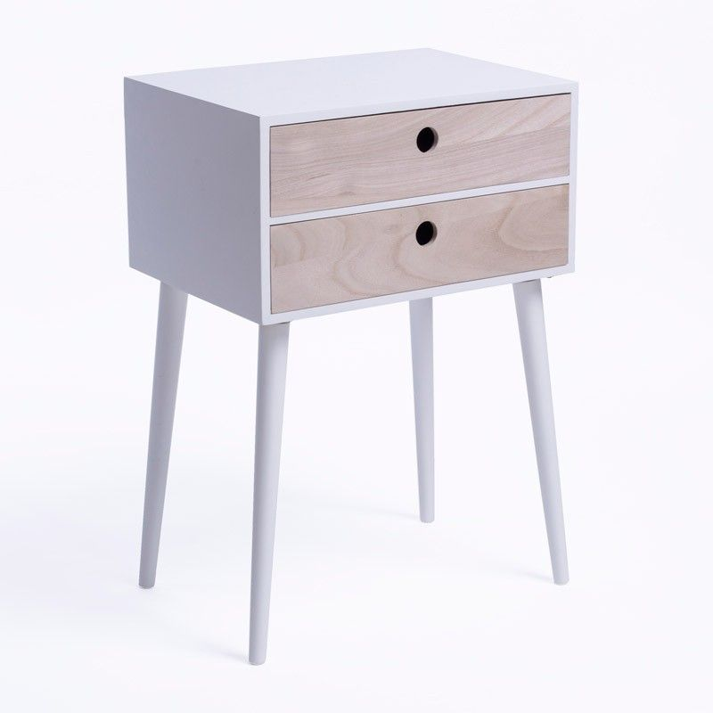 table de nuit reizo blanc pinterest design danois tables de nuit et nuits blanches. Black Bedroom Furniture Sets. Home Design Ideas