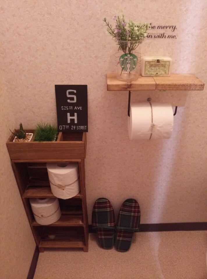 簡単100均商品だけでトイレの収納棚を作ろう 100shop