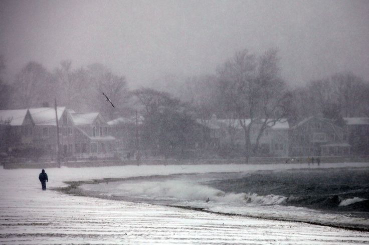 The very best place to be alone with your thoughts was Compo Beach during a snow storm ...
