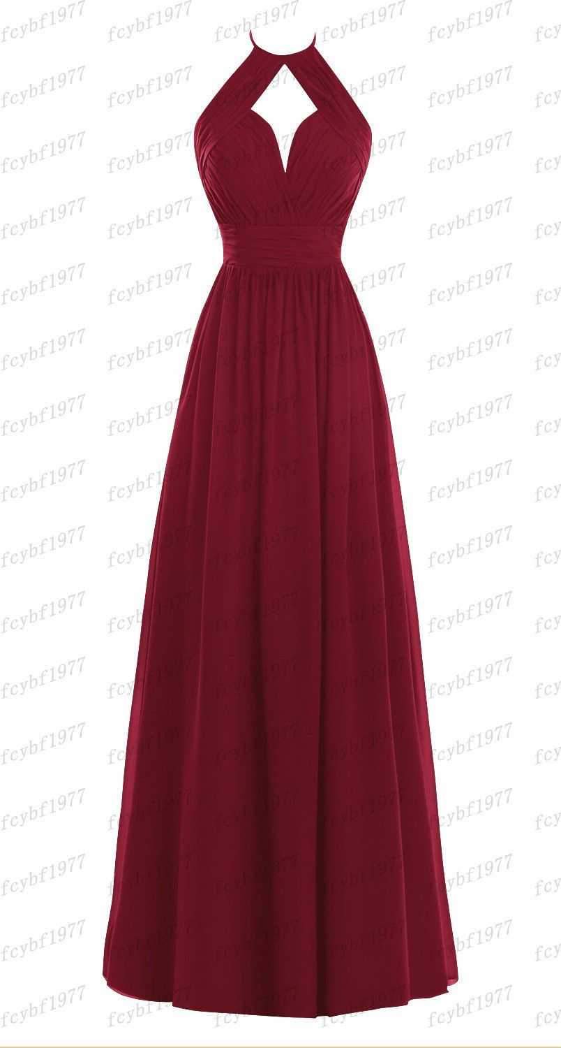 Details about Long New Formal Evening Ball Gown Party Prom Bridesmaid Dress Stock Size 6-24