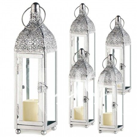 Popular Wedding Lanterns In Bulk Prices Set Of 12 Ornate Highly Polished Metal Glass Candle Lanterns Lanterns Wedding Lanterns