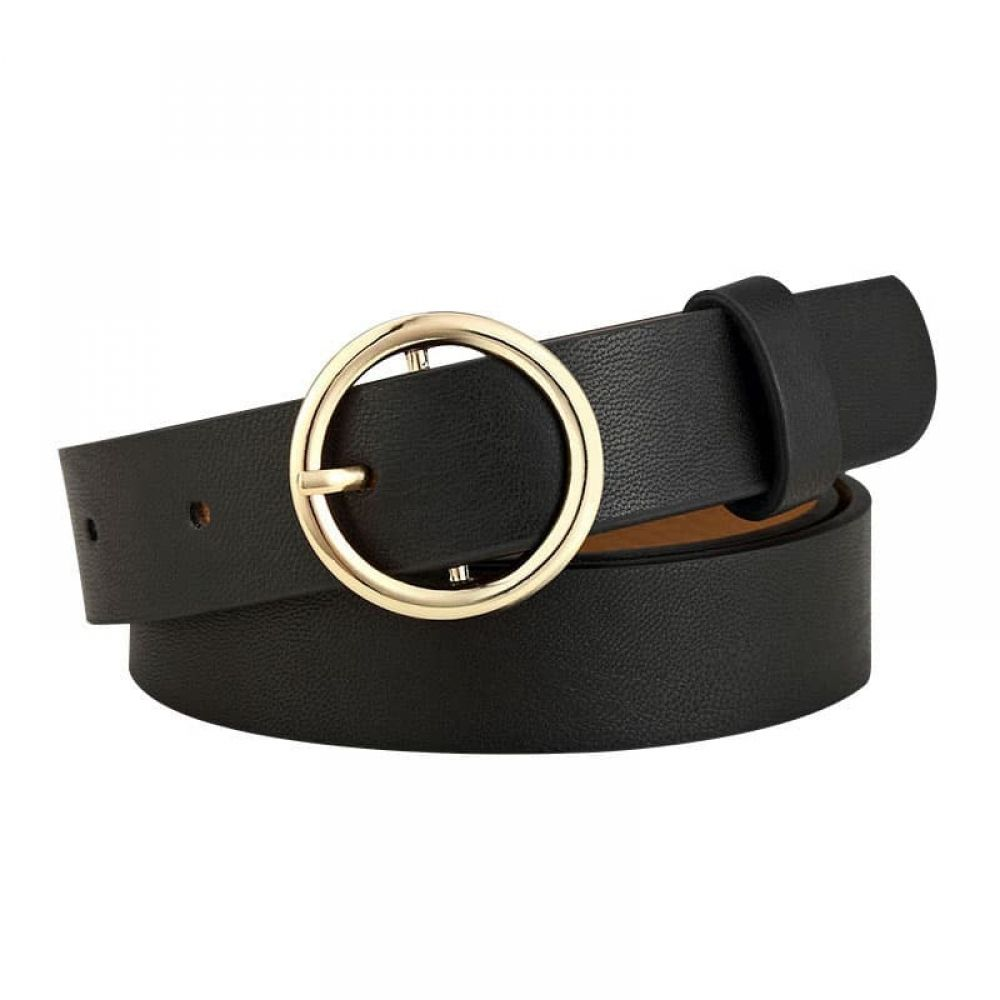 2371f98b6b Women Leather Belts Ladies Vintage Western Design Black Waist Belt for  Pants Jeans Dresses at Amazon Women s Clothing store