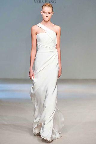 840051c3cb70 Vera Fall 2010 Collection Asymmetrical Grecian Style Wedding