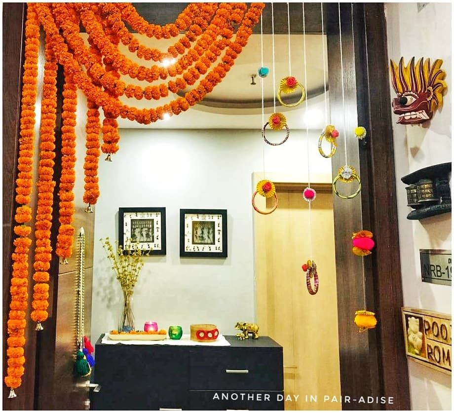 Pooja Rawat On Instagram Nothing Is More Satisfying Than Handmade To Me This Diwali I Deci Diwali Decorations At Home Door Decorations Indian Floral Decor