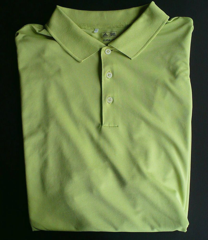 Adidas Climalite Golf Shirt Mens 2xl Xxl Lime Green Polo