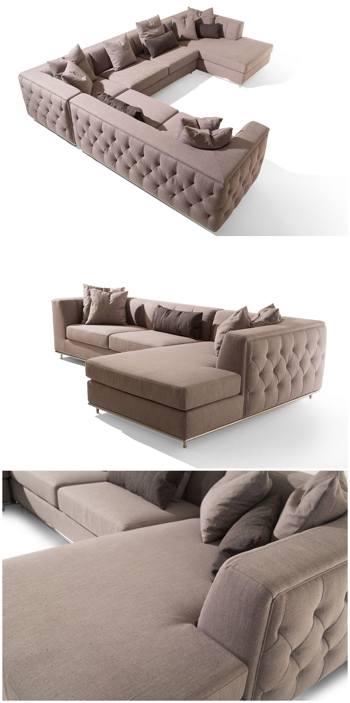 Hand Made Tufted Nice Luxury Big Sectional Sofa Made By China Supplier Modern Sofa Set Sectional Sofa Modern Sofa