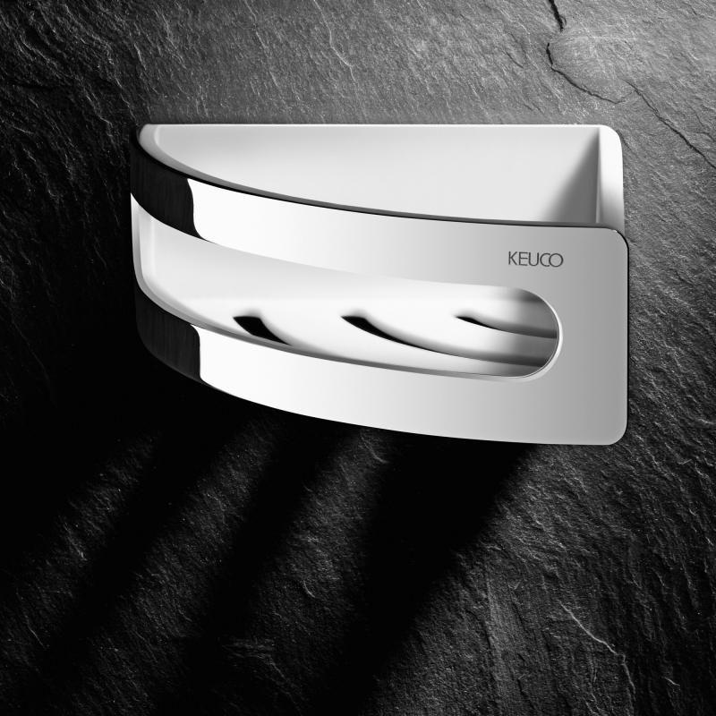 Keuco Elegance corner shower basket chrome/white | appart ...