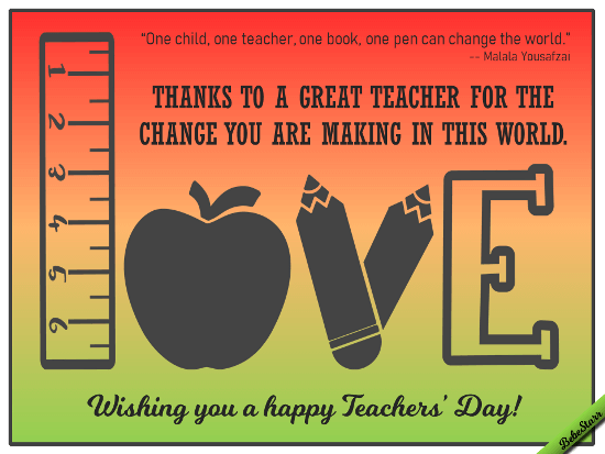 Teacher S Day Ecard Ecards Designed By Bebestarr In 2020 Teachers Day Happy Teachers Day Teachers Day Greetings