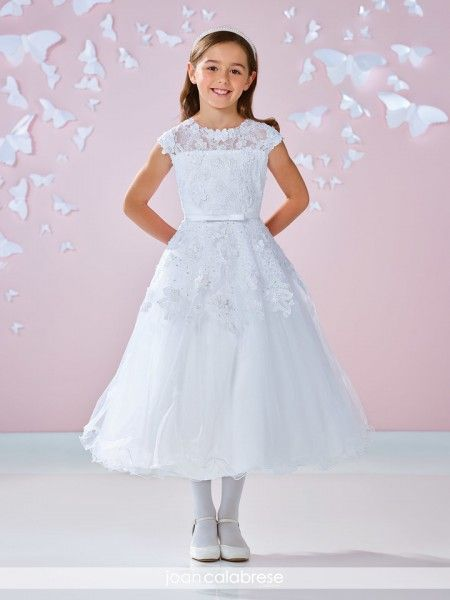 Plus Size First Communion Dress Chantilly Lace White First
