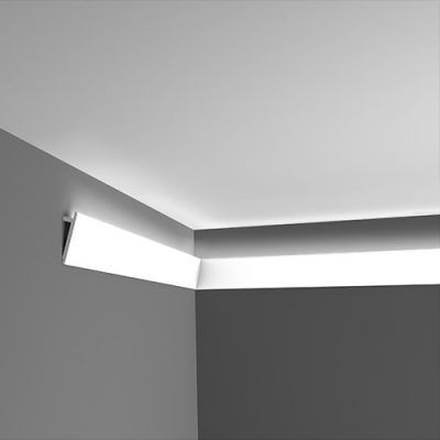 Install Led Rope And Indirect Lighting In Foam Crown Molding Foam Crown Molding Indirect Lighting Moldings And Trim