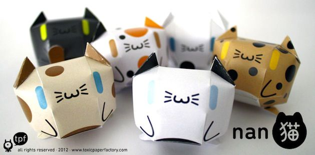 Printable Paper Cats | cat mini course | Paper toys